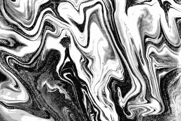 흑인과 백인 대리석 패턴. 추상적 인 배경. 프리미엄 벡터