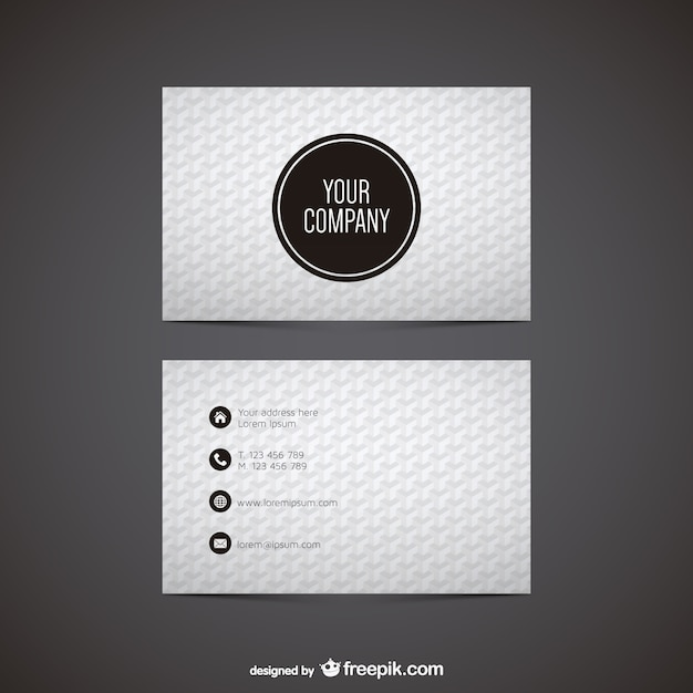 Black and white polygonal business card vector free download black and white polygonal business card free vector reheart Choice Image