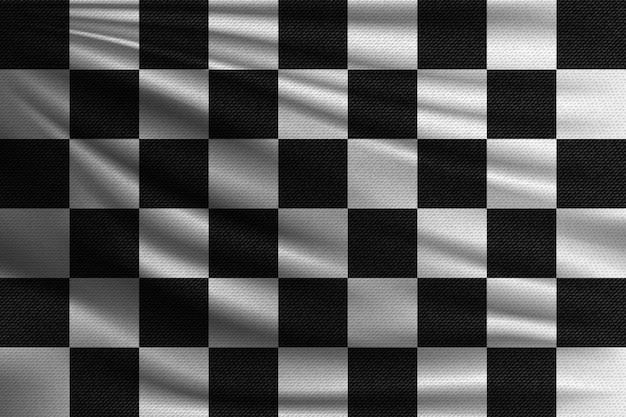 黒と白のレース旗。 Premiumベクター