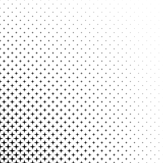 black and white star pattern vector
