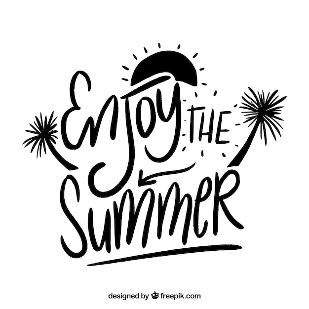 Black and white summer lettering concept Vector   Free ...