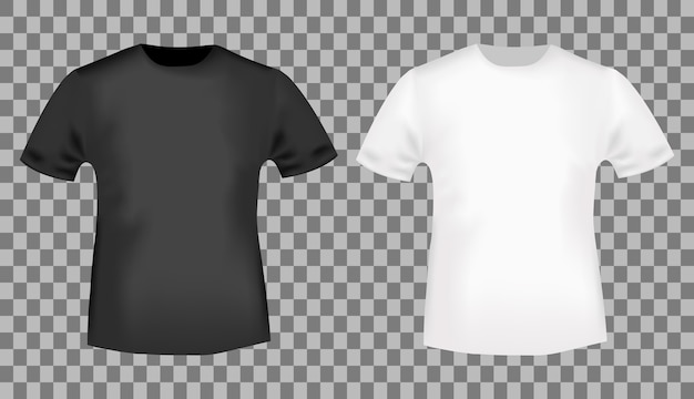 black and white tshirt template vector premium download