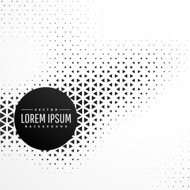 Black and white triangle pattern background