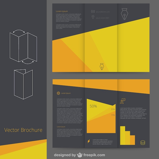 black brochure template black and yellow brochure template vector free download