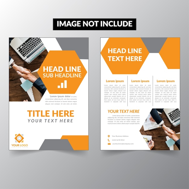 black and yellow business flyer brochure template premium vector