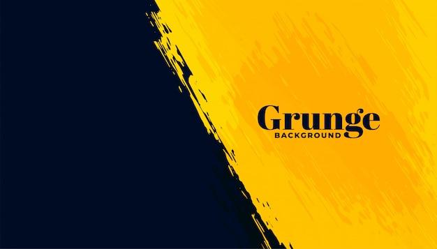 Черный и желтый гранж абстрактный фон Бесплатные векторы