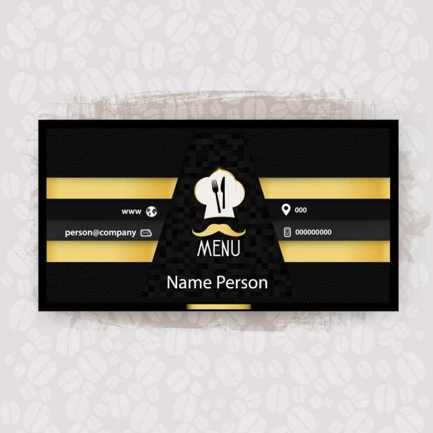 Black and yellow restaurant business card vector free download black and yellow restaurant business card free vector reheart Gallery