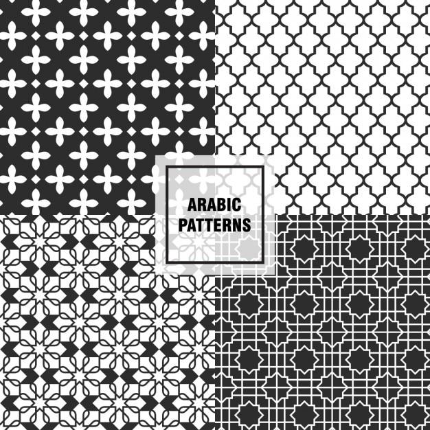 Black arabic patterns Vector   Free Download