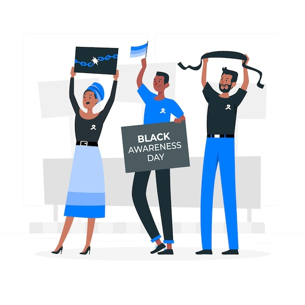 Black awareness concept illustration Free Vector