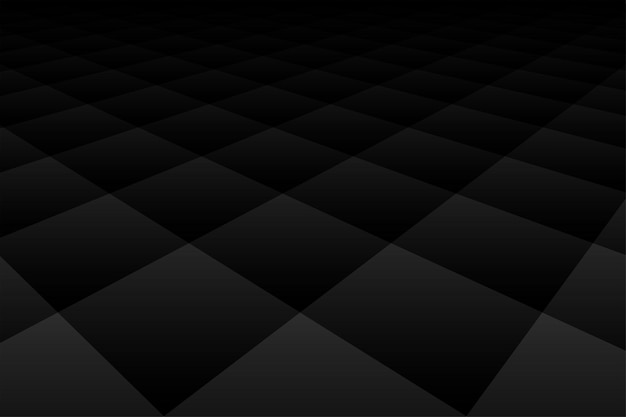 Black background dark wallpaper with diamond perspective pattern Free Vector