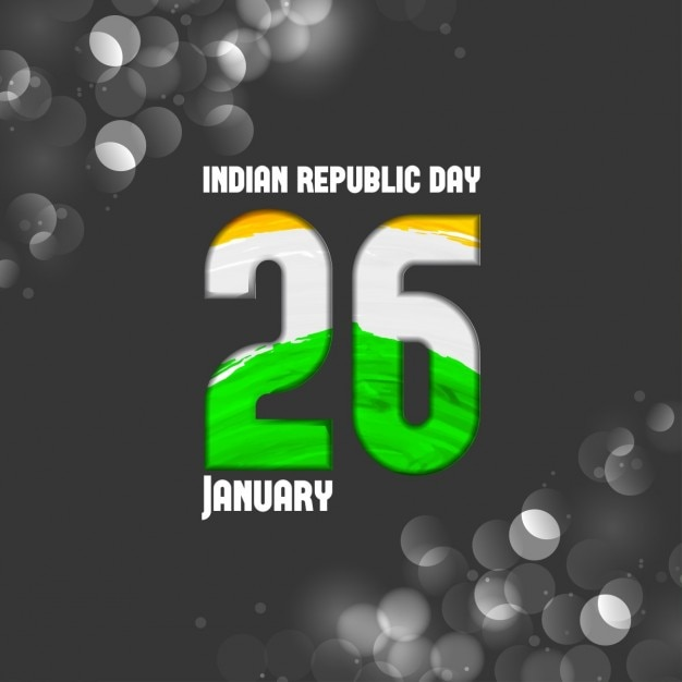 Black background, republic day of india