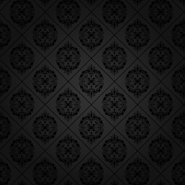Elegant Background Pattern Black And White Black background with ...