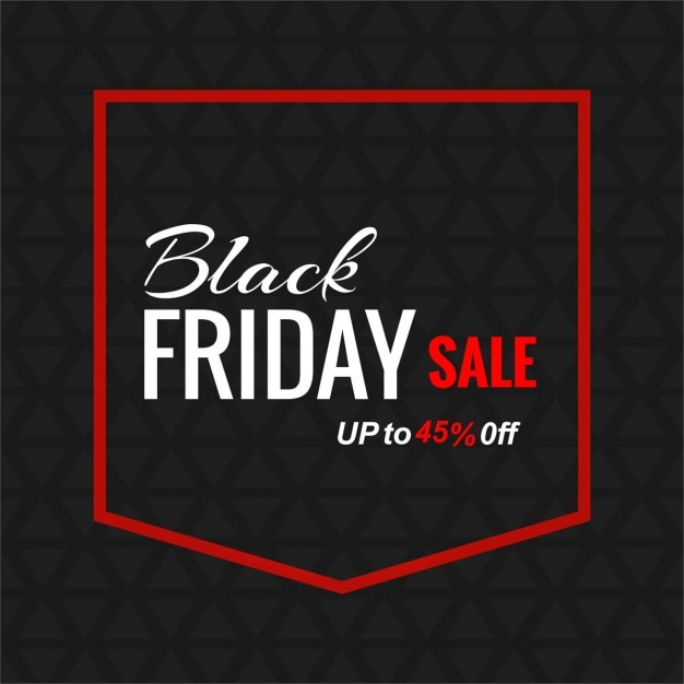 Black background with a pocket for black friday Free Vector
