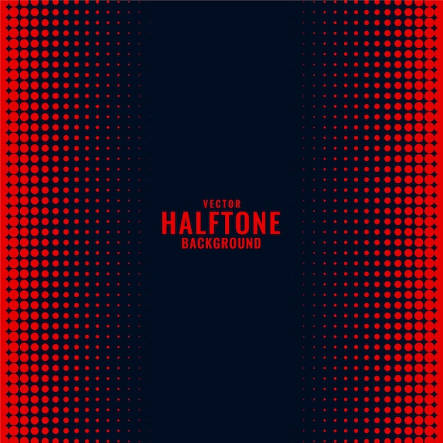 Black background with red halftone gradient pattern Free Vector