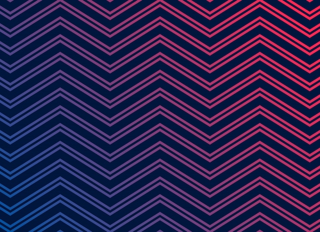 Black background with vibrant zigzag pattern Free Vector
