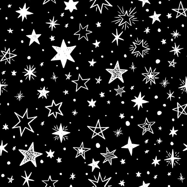 black background with white stars vector free download