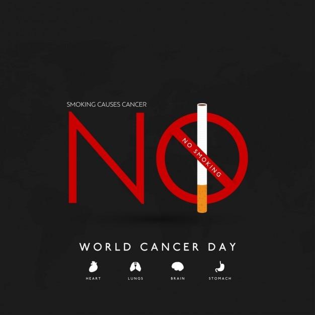 검은 배경, 세계 암의 날 무료 벡터