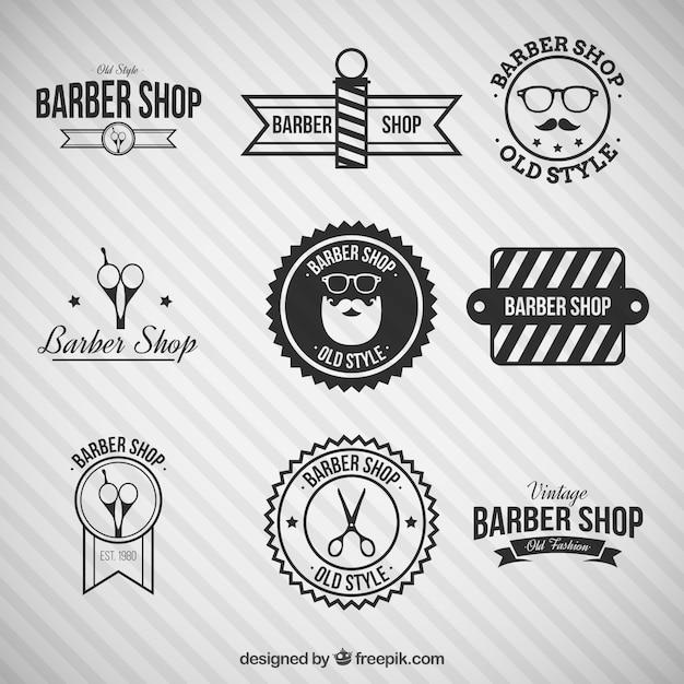 Black barber shop logos