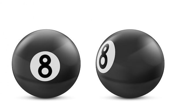Черный бильярдный шар на белом Бесплатные векторы