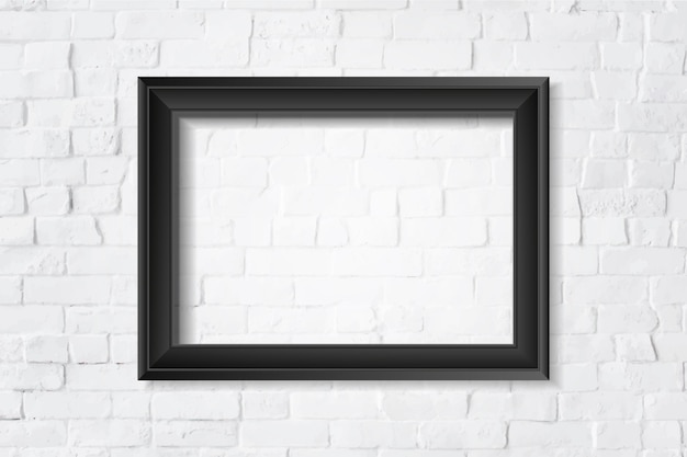 Black blank frame on the wall Free Vector