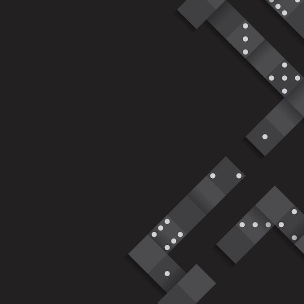 Black blocks frame on blank black background vector Free Vector