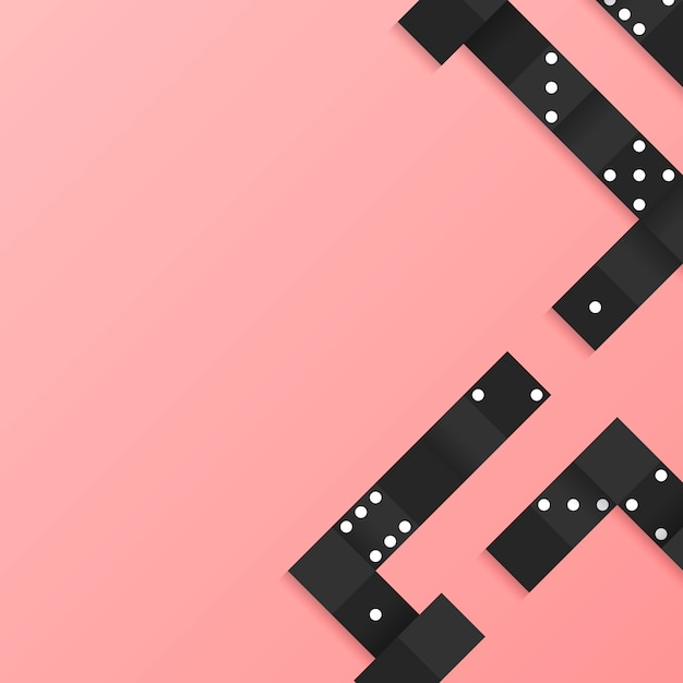 Black blocks frame on blank pink background vector Free Vector