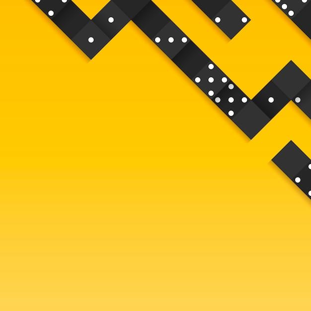 Black blocks frame on blank yellow background vector Free Vector
