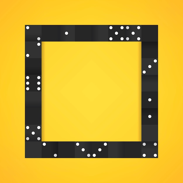 Black blocks frame on blank yellow background vector Free Vector