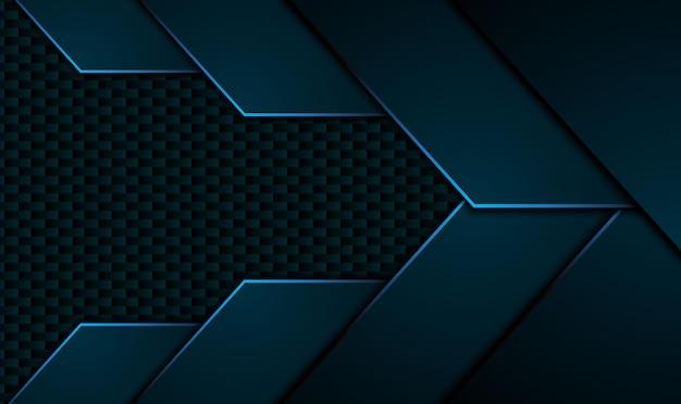 검은 파란색 배경. 프리미엄 벡터