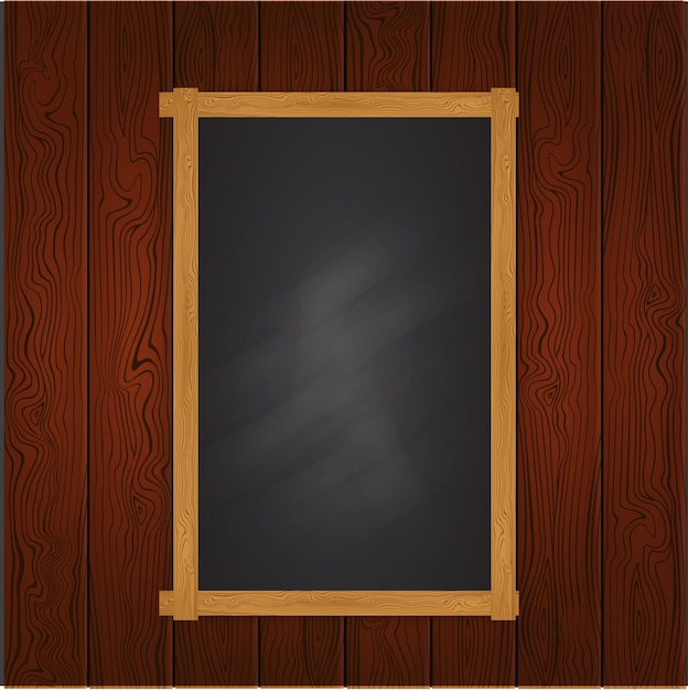 Black board template on wooden wall vector free download black board template on wooden wall free vector pronofoot35fo Choice Image