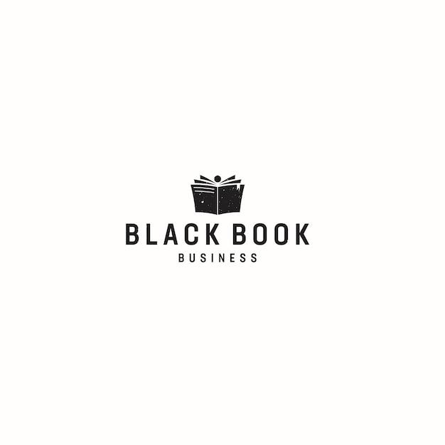 Black book business logo Premium Vector