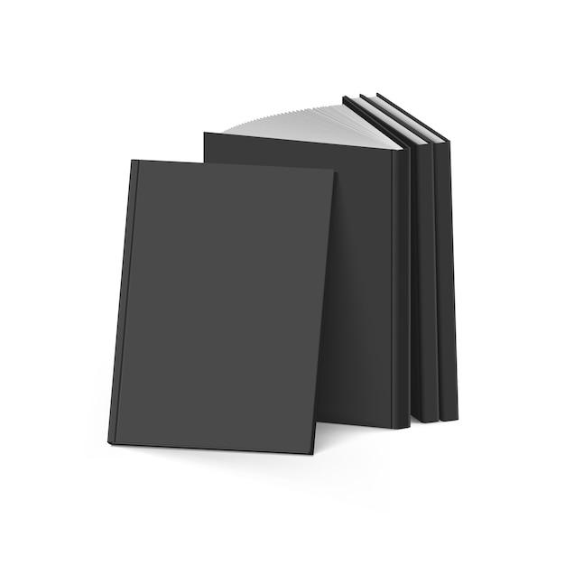Black books Premium Vector