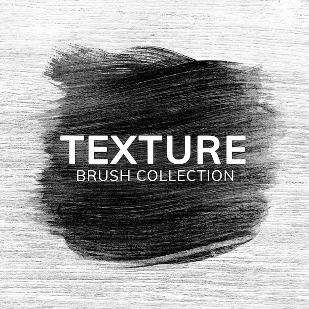 Black Brush Stroke Texture Vector | Free Download