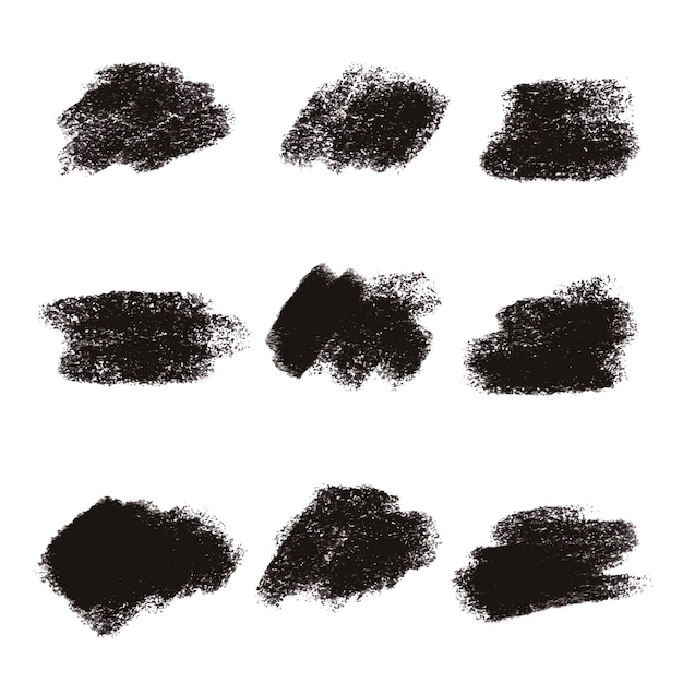 Genial Black Brush Stroke Textures Collection Vector | Free Download