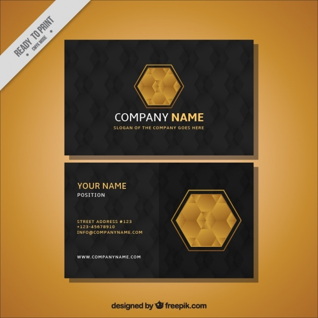Black business card with golden details vector free download black business card with golden details free vector colourmoves