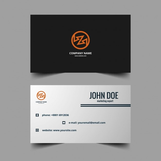 Black business card with orange logo vector free download black business card with orange logo free vector reheart Gallery