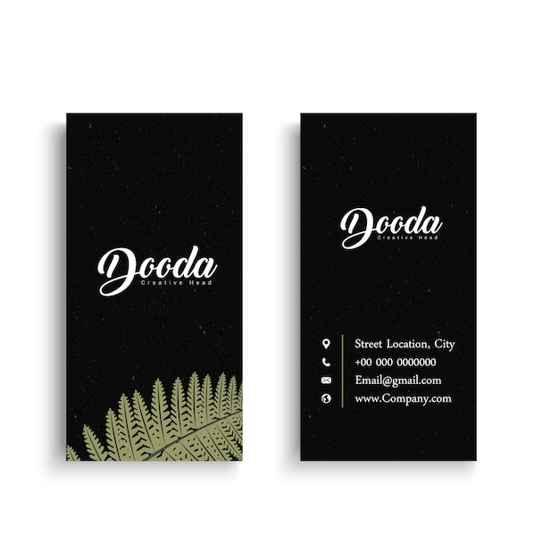 Black business card with palm tree leaf vector free download black business card with palm tree leaf free vector colourmoves
