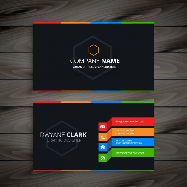 Black business card vector free download black business card free vector colourmoves