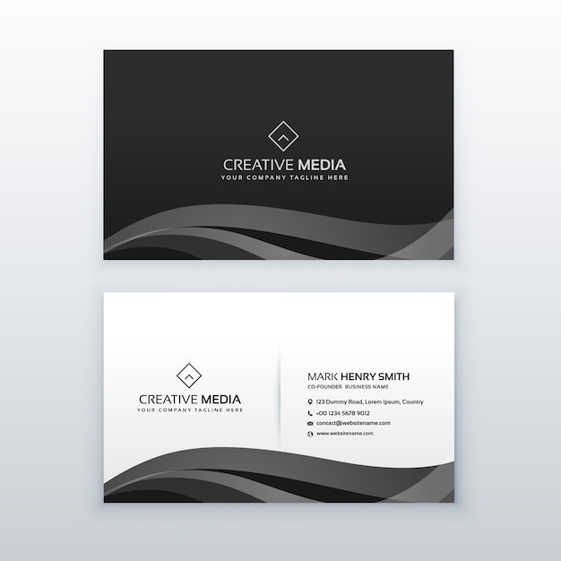 Black business card Free Vector