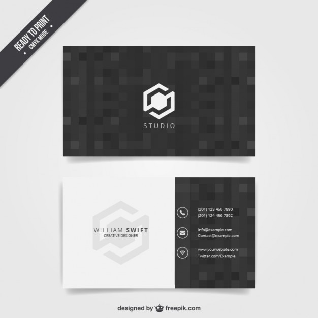 Black business card vector free download black business card free vector reheart Image collections