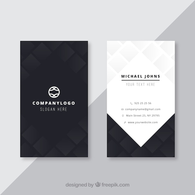 Black business card vector free download black business card free vector reheart Gallery