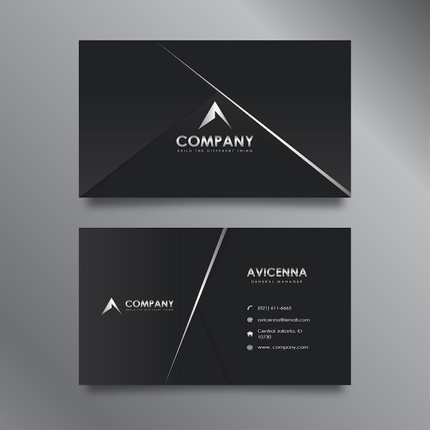 Black business card Premium Vector