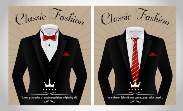 Black business suit template Premium Vector