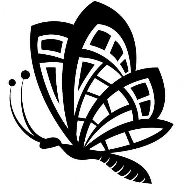 Black Butterfly Drawing Vector Clip Art Vector Free Download