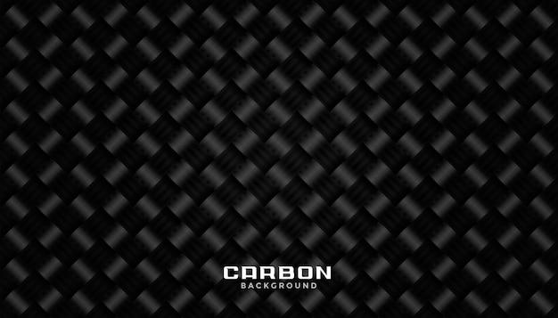 ブラックカーボンファイバーパターンテクスチャ背景デザイン 無料ベクター