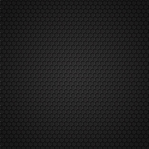 Black carbon seamless pattern Premium Vector