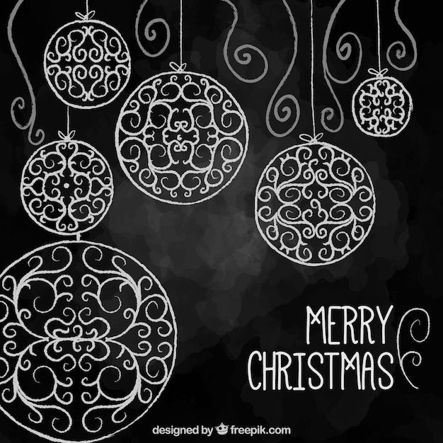 Black christmas background in watercolor style Vector | Free Download