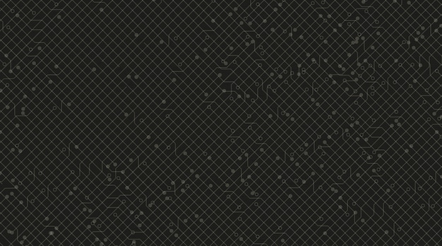 black circuit microchip technology background vector