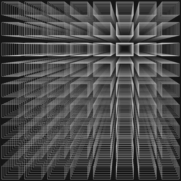 Black color abstract infinity background Premium Vector