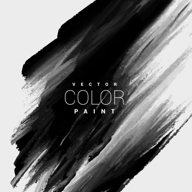 Black color paint stain background Free Vector